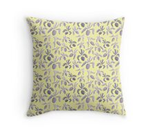 Sumi Ink Orchids Pattern Throw Pillow