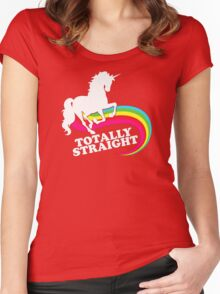 Totally Straight Women's Fitted Scoop T-Shirt