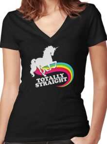 Totally Straight Women's Fitted V-Neck T-Shirt