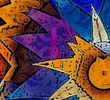 Abstract Sun Burst Sticker