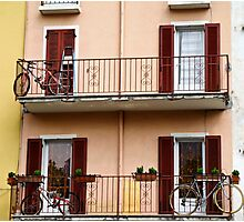 bicycles on the balcony Photographic Print