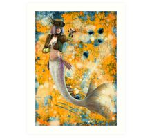 Steampunk Mermaid Art Print