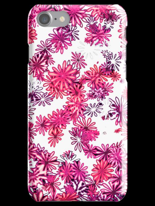 retro flower power pattern by offpeaktraveler