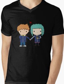 Scott Pilgrim - Scott and Ramona Mens V-Neck T-Shirt
