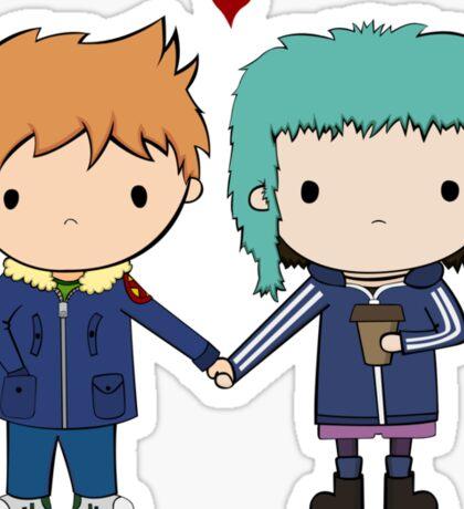 Scott Pilgrim - Scott and Ramona Sticker