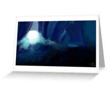 """""""Midnight in the Garden of Magic"""" Greeting Card"""