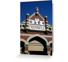 Fremantle Market Building Greeting Card