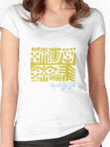 wearable art Matisse fake Women's Fitted Scoop T-Shirt