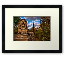The Lion and the Lamp Post  Framed Print