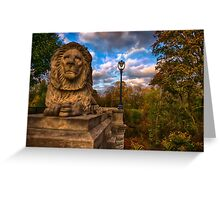 The Lion and the Lamp Post  Greeting Card
