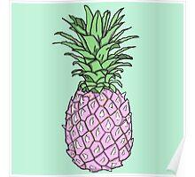 Pink Pineapple Print Poster