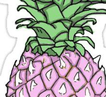 Pink Pineapple Print Sticker