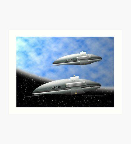 Space Destroyers Art Print