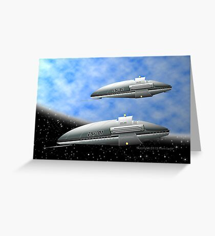 Space Destroyers Greeting Card