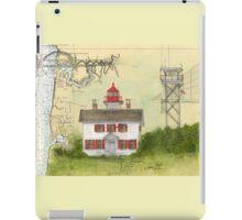 Yaquina Bay Lighthouse OR Nautical Map Cathy Peek iPad Case/Skin