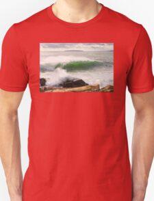 Large Crashing Waves Acadia National Park Unisex T-Shirt