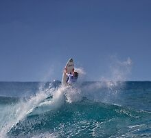 Surfer At Rip Curl Pro Pipe Masters 06 by Alex Preiss