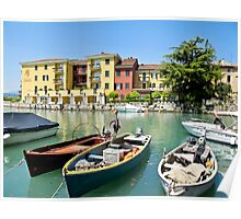 boats in Lake Garda Poster