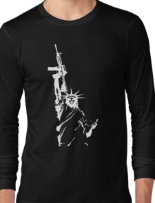 Statue of Liberty with m4a1 Long Sleeve T-Shirt