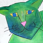Tacha the Green Cat  by Ana Murillo