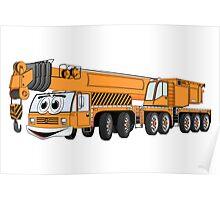 Orange Crane Cartoon Poster
