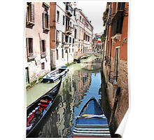 reflections in the canals Poster