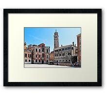 coloured buildings of Venice Framed Print