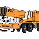 Short Orange Cartoon Crane by Graphxpro