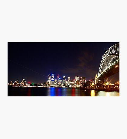 Sydney Harbour Bridge and Opera House Photographic Print