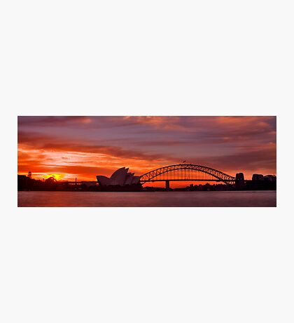 As the sun goes down behind the coat hanger Photographic Print