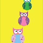 Three Little Owls by Belle Farley