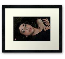 """"""" Comfortable with herself """" Framed Print"""