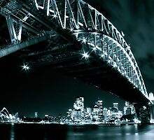 Black and White shot of Sydney's landmarks by Andrew  MCKENZIE
