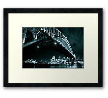 Black and White shot of Sydney's landmarks Framed Print