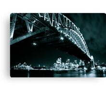 Black and White shot of Sydney's landmarks Canvas Print