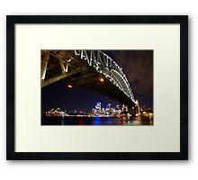 Bright Lights of Sydney Harbour Framed Print