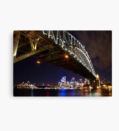 Bright Lights of Sydney Harbour Canvas Print
