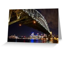 Bright Lights of Sydney Harbour Greeting Card