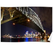 Bright Lights of Sydney Harbour Poster