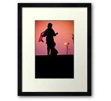 Kite Flyer Framed Print
