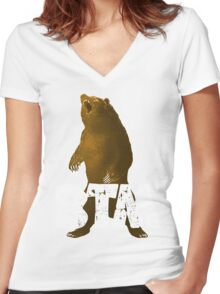 BEARBTM Women's Fitted V-Neck T-Shirt