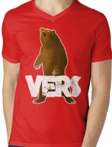 BEARVERS Mens V-Neck T-Shirt