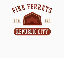 Republic City's Fire Ferrets (Red) Men's Baseball ¾ T-Shirt