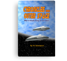 Chronicles from Outer Space book cover Canvas Print