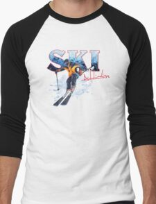 Ski Addiction Men's Baseball ¾ T-Shirt
