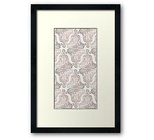 lotus pose Framed Print
