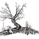 """Pen & ink Tree"" by mls0606"