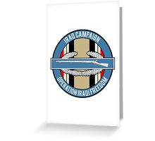 Iraq Campaign CIB Greeting Card