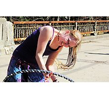 Happiness is a Handmade Hula Hoop Photographic Print