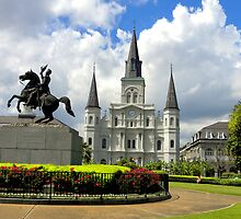 Jackson Square Greeting Card by Sandra Russell